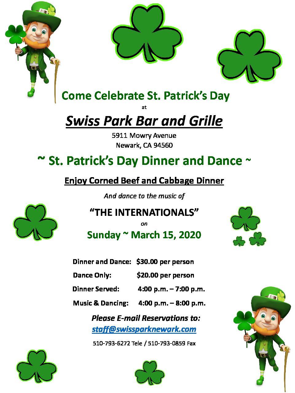 St Patrick's Day Dinner Dance